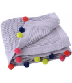 Couverture 80 x 100 truly organic Pompom