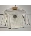 T-shirt Blanc Smile 9M