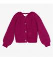 Cardi tricot framboise