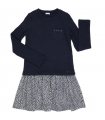 Robe Rosette gris/marine