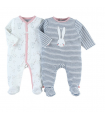 Duo De Pyjamas Velours Lapin