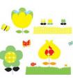 Stickers muraux Les fleurs jaunes