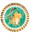 Assiette mélaminé - Tigre de la jungle